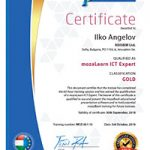 GOLD CERT Ilko Angelov